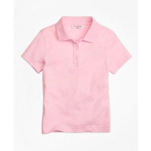 Girls' Light Pink Short-Sleeve Polo Shirt | Brooks Brothers