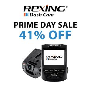 低至$58.99起 7100+评论 4.3星好评Rexing 双摄像头高清行车记录仪Prime Day热卖