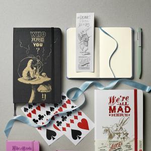 $6Moleskine Alice's Adventures in Wonderland Limited Edition Notebook, Pocket, Plain, Blue, Hard Cover (3.5 x 5.5)