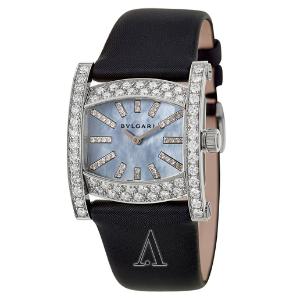 $8195.20 (原价$48700)Bvlgari Assioma 系列18K 白金钻石奢华女表