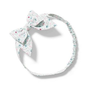 Janie and JackBaby Floral Bow Soft Headband