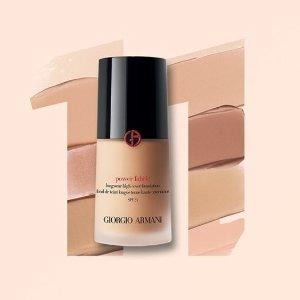 7折+赠彩妆8件套折扣升级:Giorgio Armani 精选彩妆热卖 收权力粉底、黑曜石粉霜