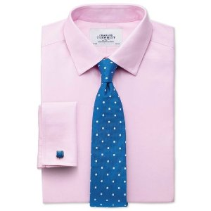 Charles Tyrwhitt4 for $78.2Extra slim fit non-iron twill pink shirt