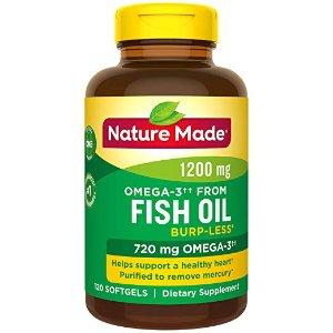 8.5折 低至$8.28Nature Made 鱼油 Omega 3 促销