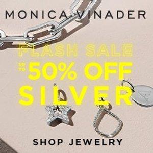 低至5折 银色小红绳$69Monica Vinader 每日闪购 精选银饰热卖