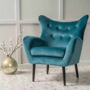 7折Target 精选时尚家具促销,$144收封面丝绒椅