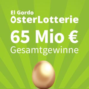 新用户只要€1 奖金高达6500万欧复活节大奖!El Gordo 西班牙大肥彩 平均每3张就能中1张
