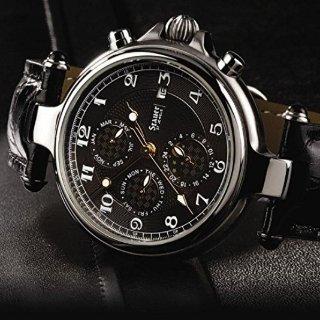 $126.65(原价$149) 超精致Stauer 不锈钢自动上链38mm腕表,带月相表盘