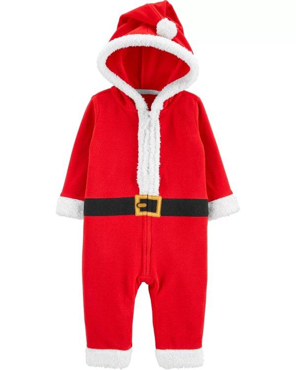 婴儿圣诞连帽连体衣