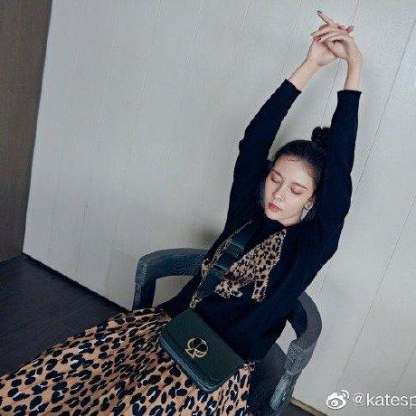 豹纹半身裙
