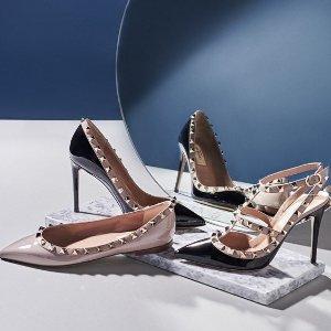 全场9折 £382收Open系列小白鞋Valentino 鞋子专区全场大促 气场女孩必备单品