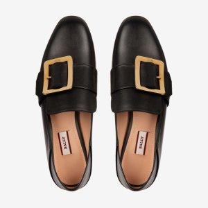 Bally黑色金扣鞋