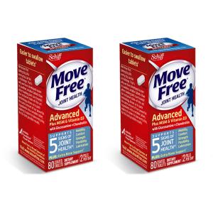 SchiffMove Free + 维生素D3 氨基葡萄糖维骨力 80粒 2盒