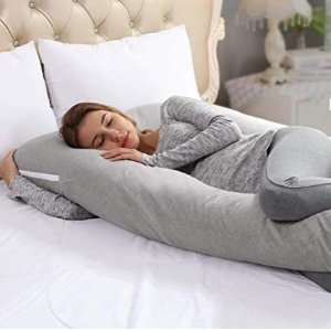 $96.29(原价$126)Ang Qi 孕妇专用灰色侧睡U型枕 防止腰痛