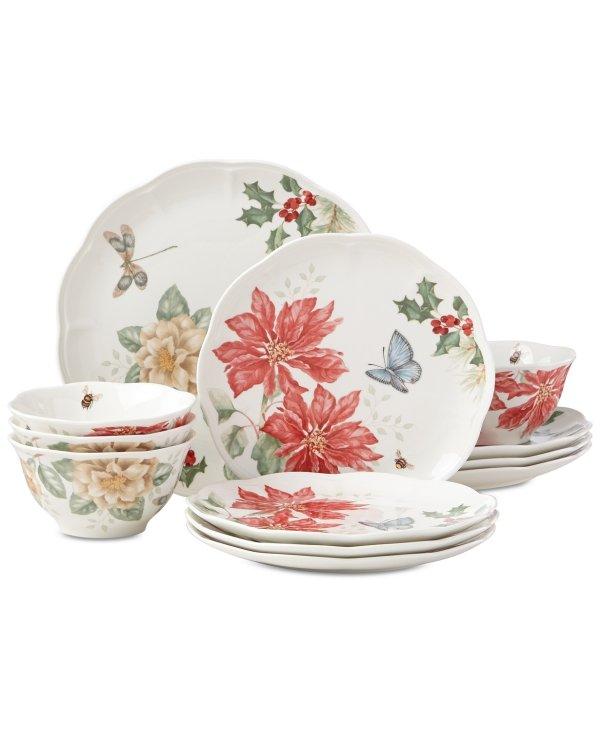 Butterfly Meadow 餐具节日12件套