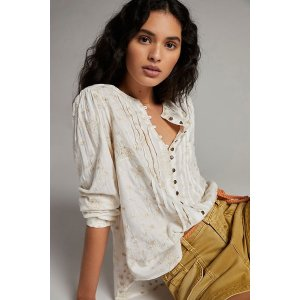AnthropologiePilcro Jolie Pintucked Blouse