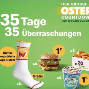 下载APP即可用德国小吃货:麦当劳 复活节倒计时 2.19-3.24 共35天 35个惊喜