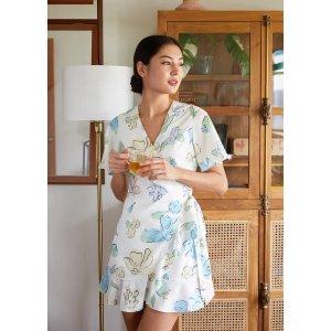Lexa Front印花茶歇裙