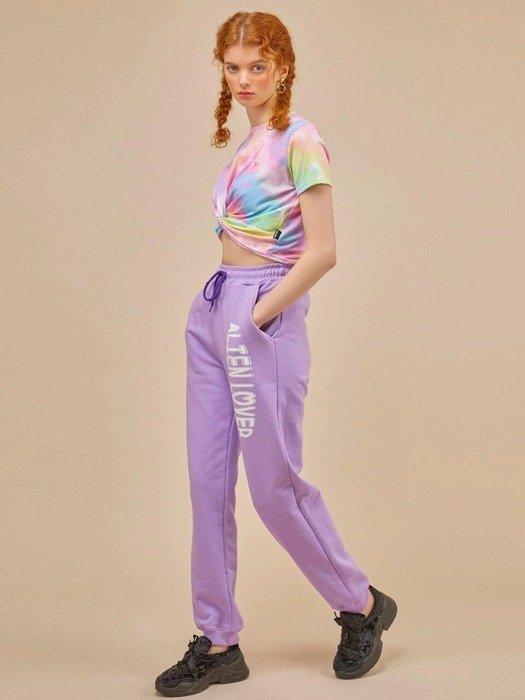 紫色休闲运动裤