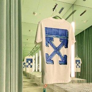 全场6折 €108收羊毛围巾Off-White 全场大促 收夹子包、Logo卫衣、围巾小白鞋等