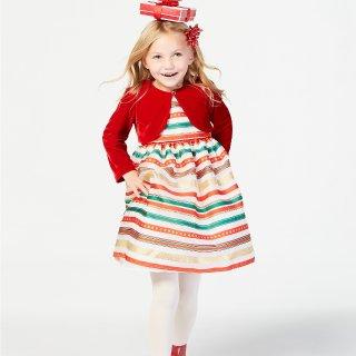 低至4折 免邮门槛降低macys 儿童节日服饰特卖 聚会趴体很需要