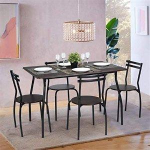 $99.37 包邮Coavas 餐桌餐椅5件套