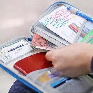 3.1折 只需€3(原价€9.99)旅行必备好物推荐 便携收纳包 护照、零钱、机票一包全装