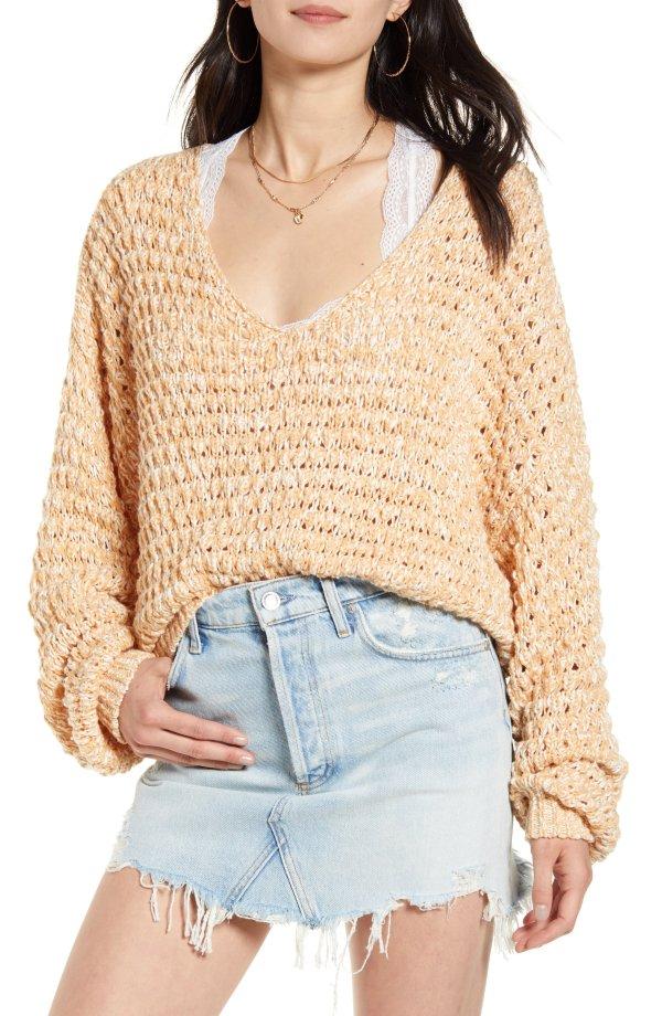 Coconut Knit V领毛衣