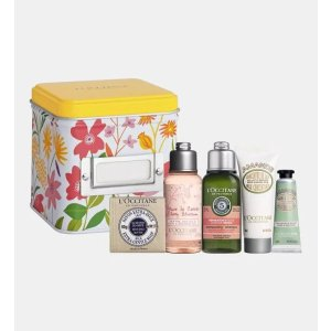 L'Occitane乳木果皂+沐浴露+洗发露+体乳+护手霜身体护理套装