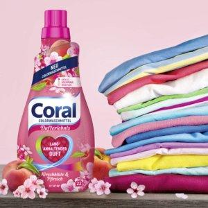 折后€2.36 可洗22次Coral 新版洗衣液 清洁彻底 还原色彩 适用于彩色衣物 日常囤货