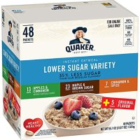QUAKER 低糖早餐燕麦 3种口味 48 Counts