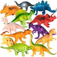 12件套恐龙玩偶套装