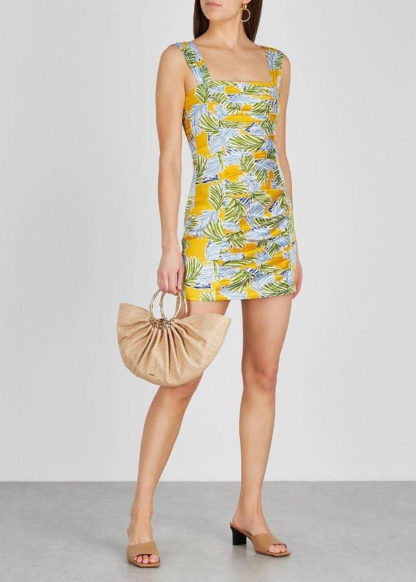 Palm Paradise丝缎印花裙