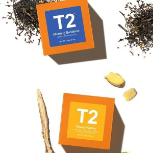 4折起+额外9折 大量上新T2 澳洲高颜值茶饮、茶具折扣区大处理 套盒送人更划算
