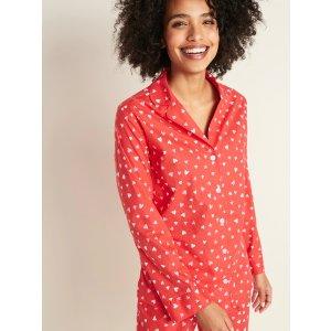 Old NavyPrinted Poplin Pajama Shirt for Women