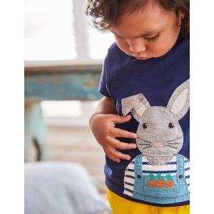 Boden婴儿贴布绣T恤