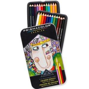 $12.95(原价$38.69)Prismacolor 软芯彩色铅笔 24色