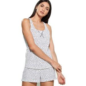 S码 $29.99 (官网$100+)Calvin Klein 小logo 印花睡衣套装 划算好价