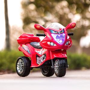 Ending Soon: 6V Kids 3-Wheel Motorcycle Ride-On Toy w/ LED Lights, Music, Storage
