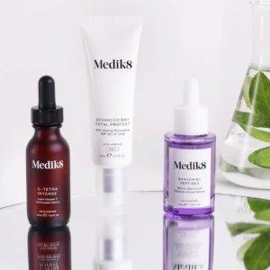 返$30+送护肤6件套、发膜Medik8 英国宝藏药妆 get平价版修丽可B5、精华套装