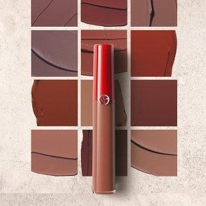 大热206 超美焦糖色调史低价:正价7折+送2个小样 快收Giorgio Armani 红管丝绒唇釉
