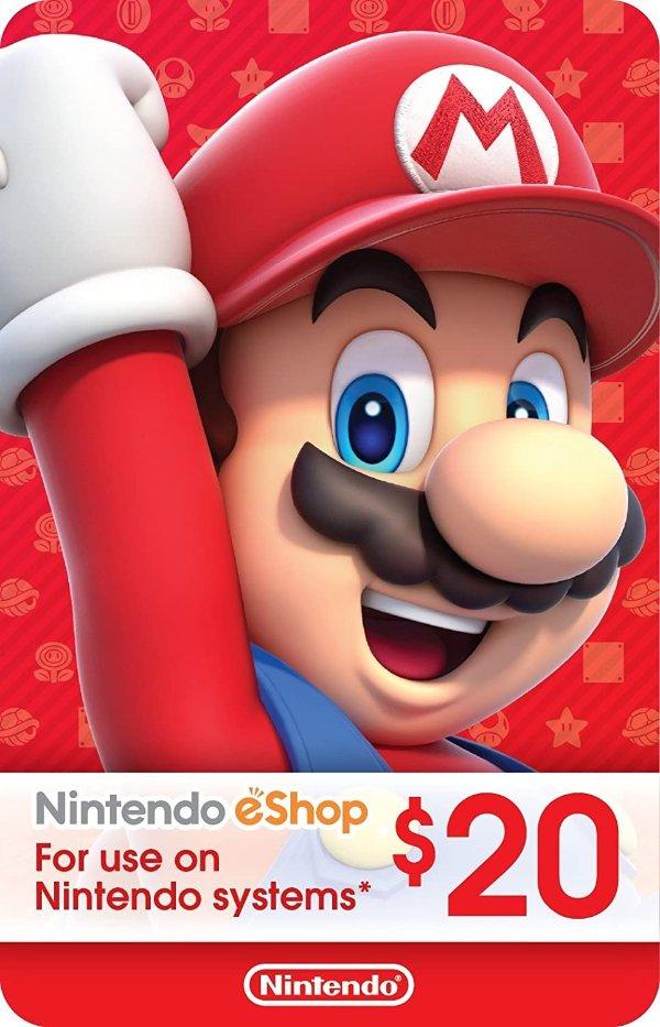 eShop $20 电子礼卡