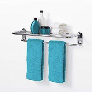 Zenna Home 9005SS, Hotel Style Towel Shelf, Chrome