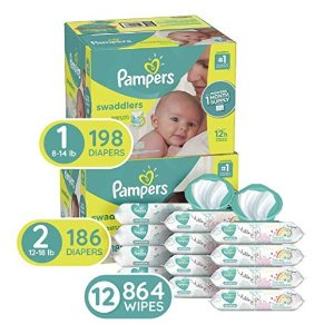 $25 offPampers Swaddlers Disposable Baby Diapers + Sensitive Water-Based Baby Wipes