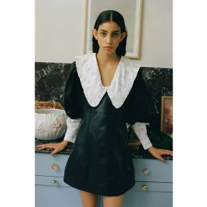 Ganni羊皮连衣裙