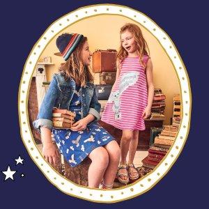 8.5折+无门槛包邮上新:Mini Boden 夏季新款儿童服饰,哈利波特新款都参加
