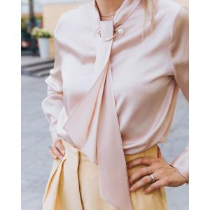 第二件6折 叠加$100-$15绑带真丝衬衫