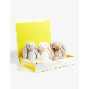 JellycatBashful Bunny soft toy hamper set of three 31cm