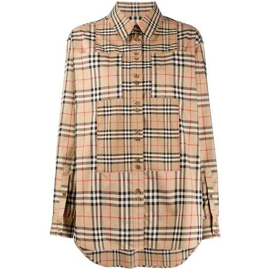 Contrast Vintage格纹衬衫