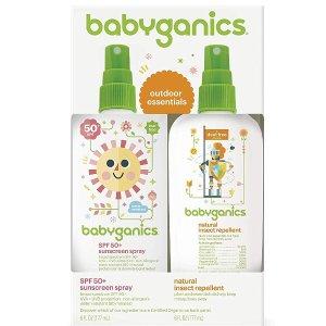 $16.14+免运费Babyganics 宝宝防晒喷雾和天然驱虫喷雾套装